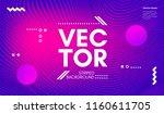 wave lines. minimal flow... | Shutterstock .eps vector #1160611705