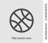 basketball icon vector | Shutterstock .eps vector #1160618242