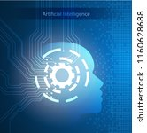 machine learning  artificial... | Shutterstock .eps vector #1160628688