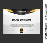 certificate template with... | Shutterstock .eps vector #1160628805
