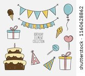 set of different vector... | Shutterstock .eps vector #1160628862