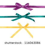 Colorful Silk Ribbons With Bow...