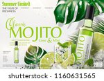 refreshing mojito ads with ice... | Shutterstock .eps vector #1160631565