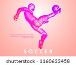 football concept. vector drawn... | Shutterstock .eps vector #1160633458