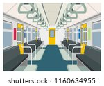 commuter train interior simple... | Shutterstock .eps vector #1160634955