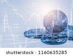 modern way of exchange. bitcoin ...   Shutterstock . vector #1160635285
