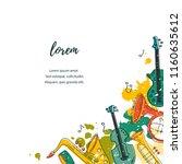 template for music festival ...   Shutterstock .eps vector #1160635612