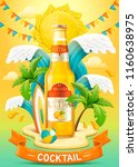 orange cocktail ads with light... | Shutterstock .eps vector #1160638975