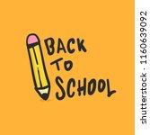 back to school illustration... | Shutterstock .eps vector #1160639092