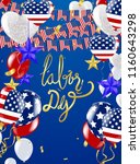 usa labor day greeting card... | Shutterstock .eps vector #1160643298