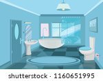 bathroom interior modern  3d ... | Shutterstock .eps vector #1160651995