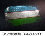 uzbekistan flag made of...   Shutterstock . vector #1160657755
