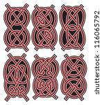 set of vector ancient celtic... | Shutterstock .eps vector #116065792