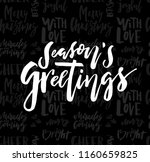 merry christmas card with... | Shutterstock .eps vector #1160659825