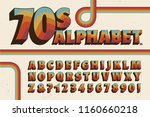 a 1970s style alphabet with... | Shutterstock .eps vector #1160660218