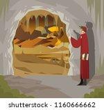 great italian poet in hell   Shutterstock .eps vector #1160666662
