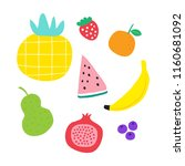 cute fruits illustration | Shutterstock .eps vector #1160681092