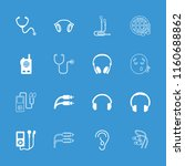 listen icon. collection of 16... | Shutterstock .eps vector #1160688862
