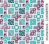 seamless pattern. geometrical... | Shutterstock . vector #1160689078