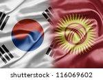 south korea and kyrgyzstan | Shutterstock . vector #116069602
