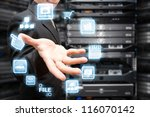 programmer and icon control the ... | Shutterstock . vector #116070142