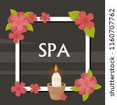 spa  vector illustration with... | Shutterstock .eps vector #1160707762
