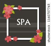 spa  vector illustration with... | Shutterstock .eps vector #1160707765
