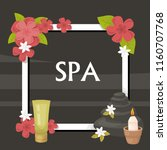 spa  vector illustration with... | Shutterstock .eps vector #1160707768