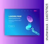 landing page bitcoin with... | Shutterstock .eps vector #1160707825