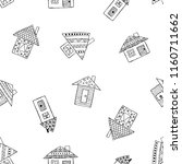 hand drawn seamless pattern ... | Shutterstock . vector #1160711662