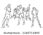 continuous line drawing of...   Shutterstock .eps vector #1160711845