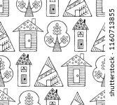 hand drawn seamless pattern ... | Shutterstock . vector #1160713855