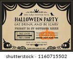 halloween vector party... | Shutterstock .eps vector #1160715502