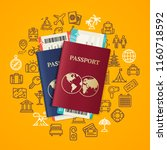 travel and tourism concept card ... | Shutterstock .eps vector #1160718592