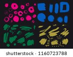 bright colorful vivid  cheerful ... | Shutterstock .eps vector #1160723788