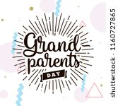happy grandparents day.... | Shutterstock .eps vector #1160727865