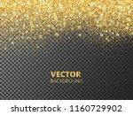 sparkling glitter border  frame.... | Shutterstock .eps vector #1160729902
