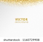 sparkling glitter border  frame.... | Shutterstock .eps vector #1160729908