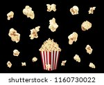 popcorn time on vector | Shutterstock .eps vector #1160730022