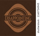disappointing realistic wooden...   Shutterstock .eps vector #1160734945