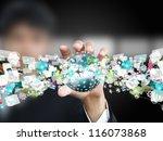 man holding world object   Shutterstock . vector #116073868