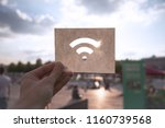 the wi fi wireless network sign ... | Shutterstock . vector #1160739568