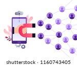 social media ultra violet... | Shutterstock .eps vector #1160743405