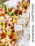 solemn happy new year banquet....   Shutterstock . vector #1160751982