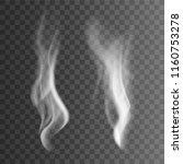 white cigarette smoke waves.... | Shutterstock .eps vector #1160753278