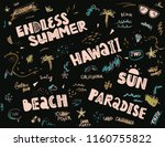 pattern for tee print with... | Shutterstock .eps vector #1160755822