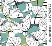 tropical  modern stripes motif. ... | Shutterstock .eps vector #1160760922
