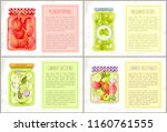pickled peppers  canned... | Shutterstock .eps vector #1160761555