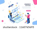 augmented reality connection... | Shutterstock .eps vector #1160765695