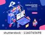 internet datacenter connection  ... | Shutterstock .eps vector #1160765698